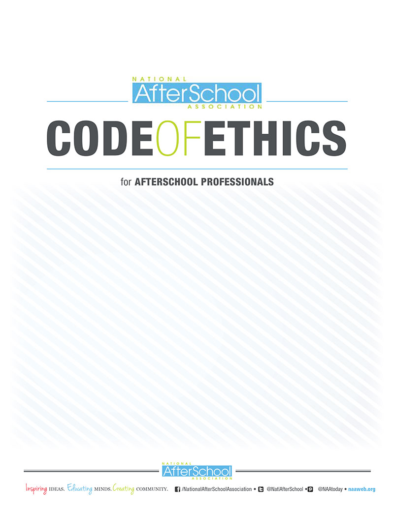 NAA Code of Ethics for AferSchool Professionals 1